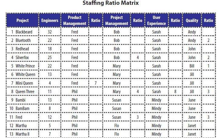 Staffing Ratio Matrix